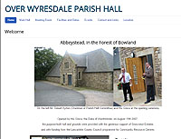 Over Wyresdale Parish Hall for Lancashire Wedding, meeting and conference venue